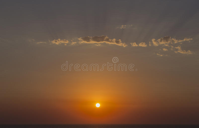 Dramatic Sky Before Sunset royalty free stock images