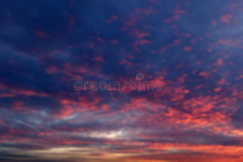 Dramatic sky at sunset time for background. At sea royalty free stock image
