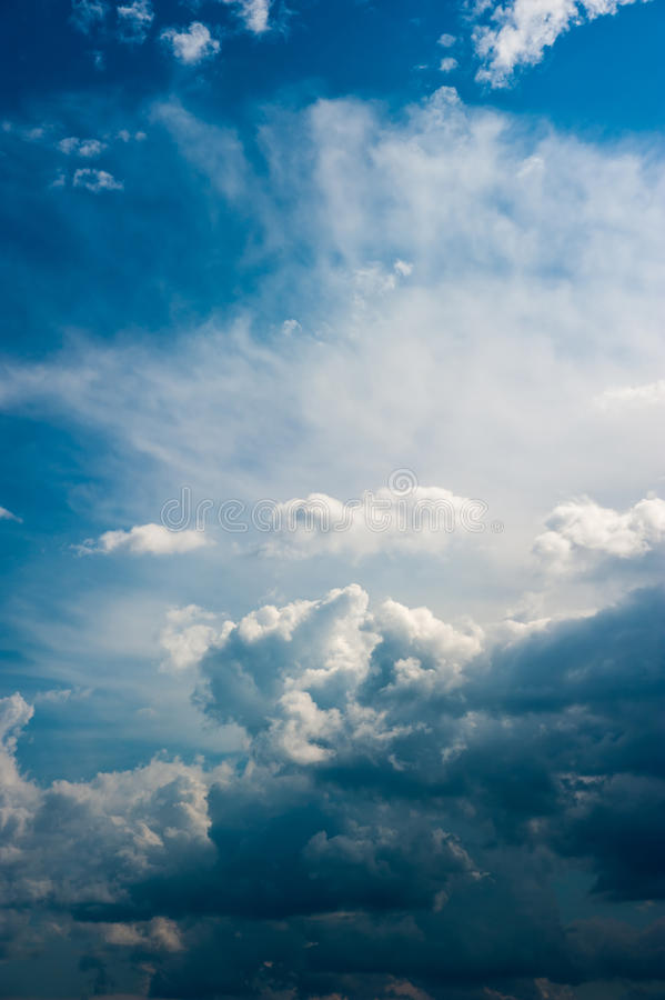 Dramatic sky whith clouds. stock photography