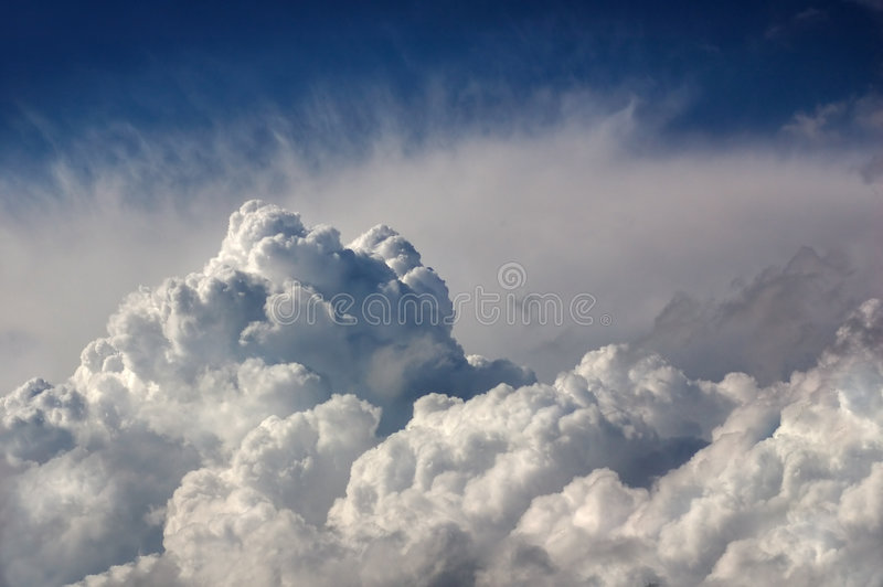 Dramatic storm clouds royalty free stock photo