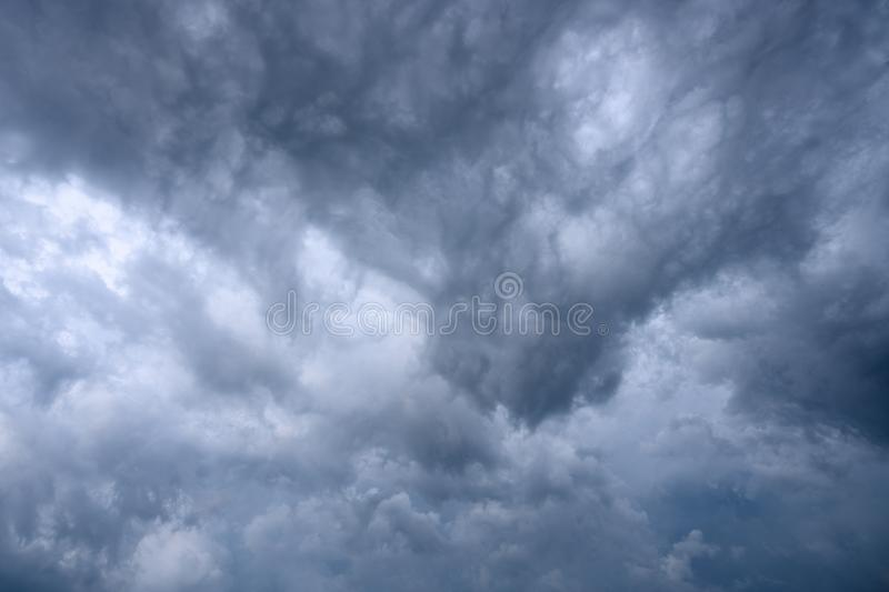 Dramatic storm clouds background texture.  stock photo