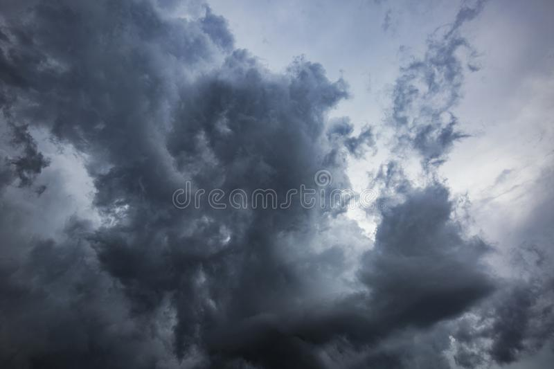 Storm clouds in central Florida. Dramatic storm clouds in central Florida United States of America royalty free stock image