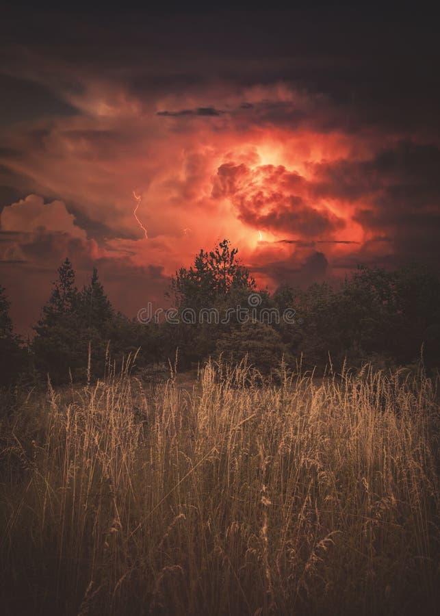 Dramatic Storm Light. At National park Galicica stock photos