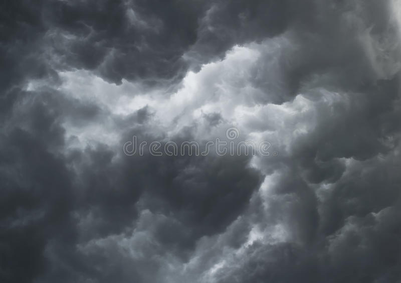 Dramatic stormy clouds stock image