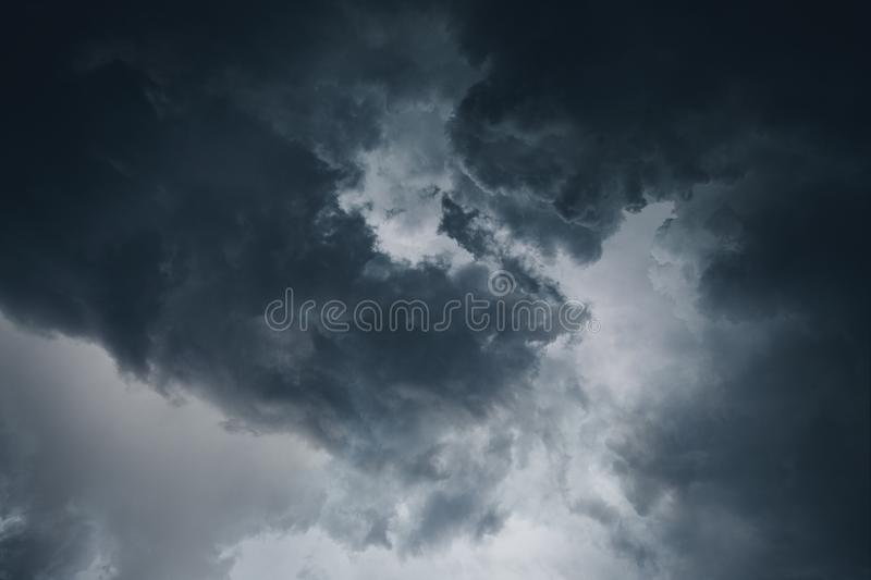 Dramatic stormy clouds. In Deltona Florida United States shoot with a profesional wide angle lens royalty free stock image