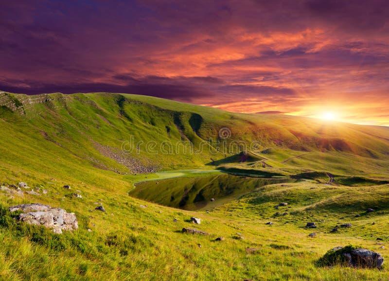 Dramatic summer landscape stock images