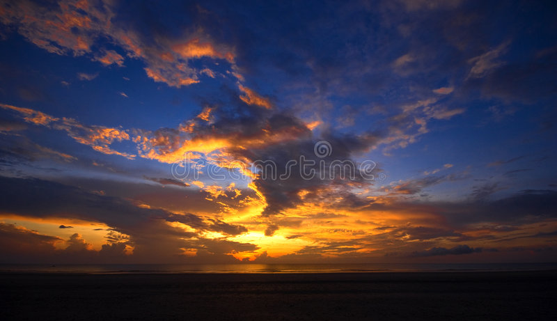 Dramatic sunrise. In Pahang, Malaysia stock photo