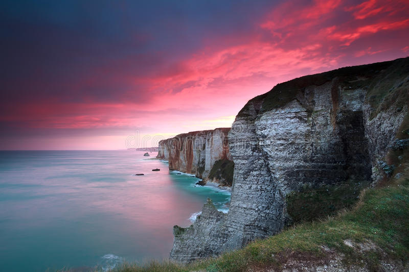 Download Dramatic Sunrise Over Cliffs In Atlantic Ocean Stock Photo - Image: 37244280