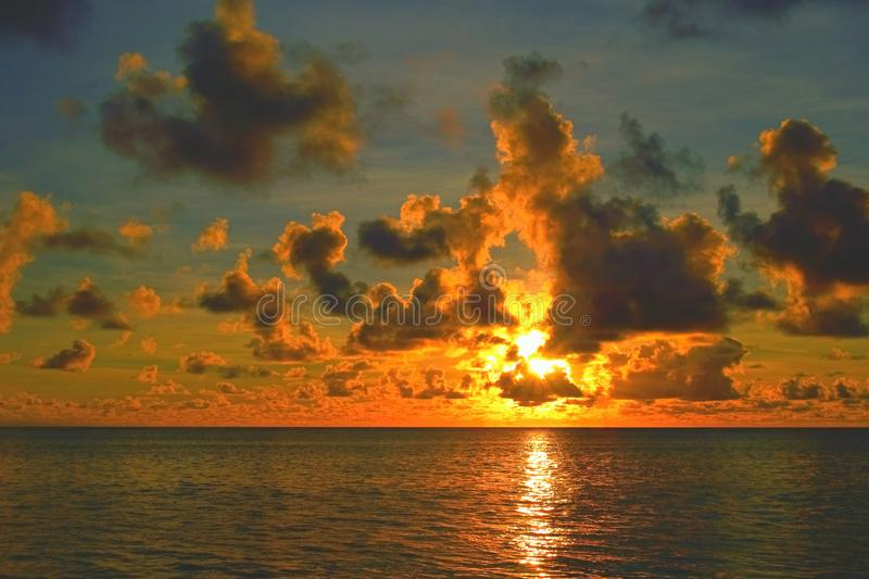 Sunrise over the Pacific Ocean royalty free stock images