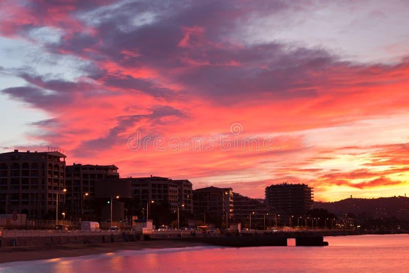 A dramatic sunrise sky