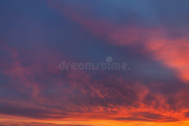 Dramatic sunrise sky. Nature background. Morning sky. Dramatic sunrise sky royalty free stock image