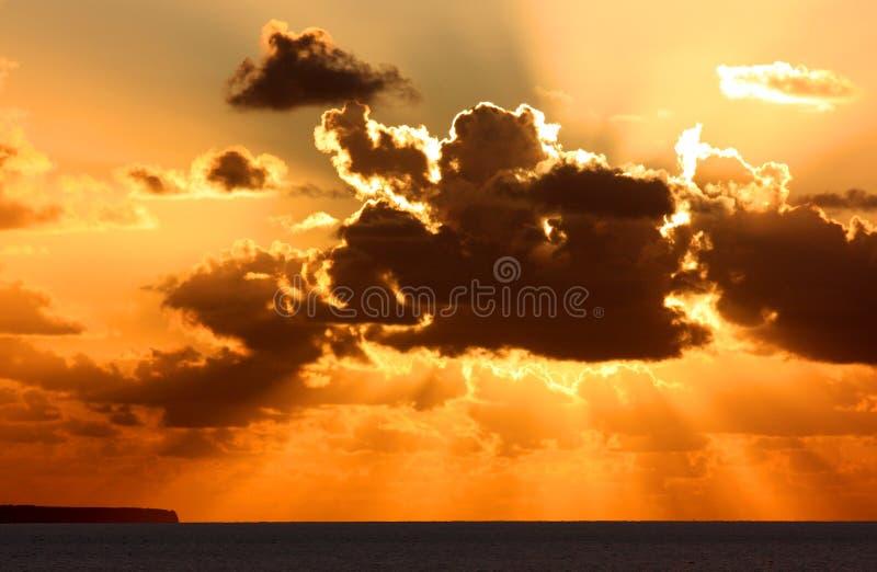 Dramatic sunset royalty free stock images