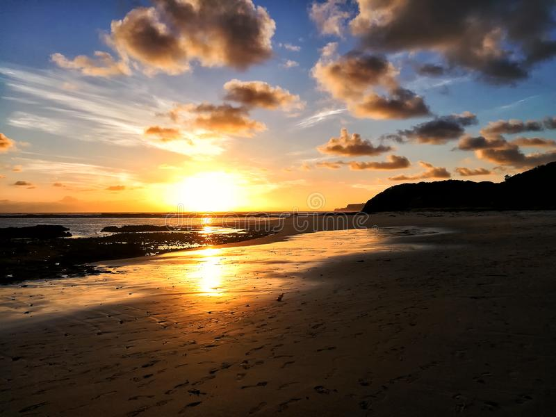 Dramatic Sunset On The Beach Stock Image - Image of travel ...