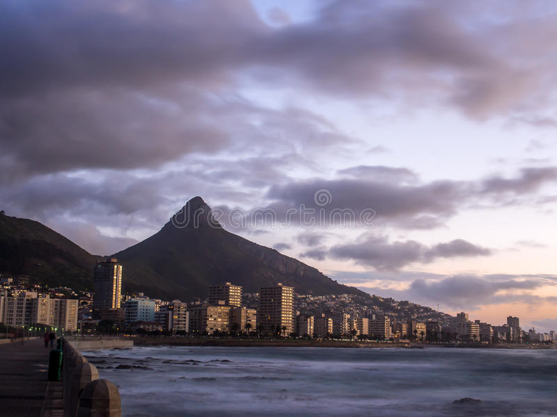 Dramatic sunset on Cape Town - 2 stock photography