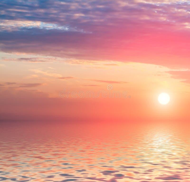 Download Dramatic sunset. stock illustration. Illustration of liquid - 32357534