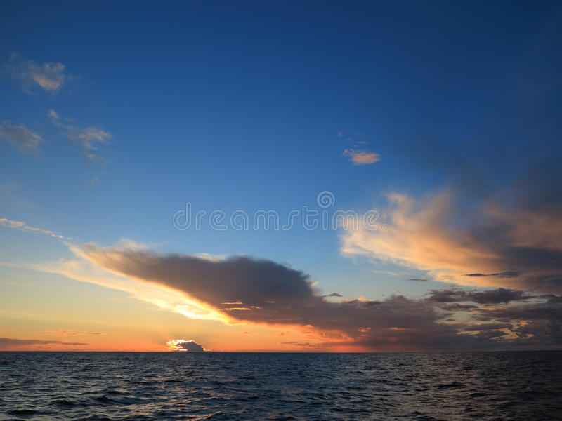 Dramatic Sunset Over The Baltic Sea Royalty Free Stock Photo