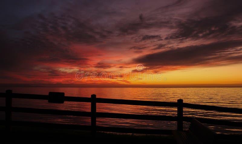 Dramatic Sunset, Palos Verdes Peninsula, South Bay of Los Angeles County, California stock photography