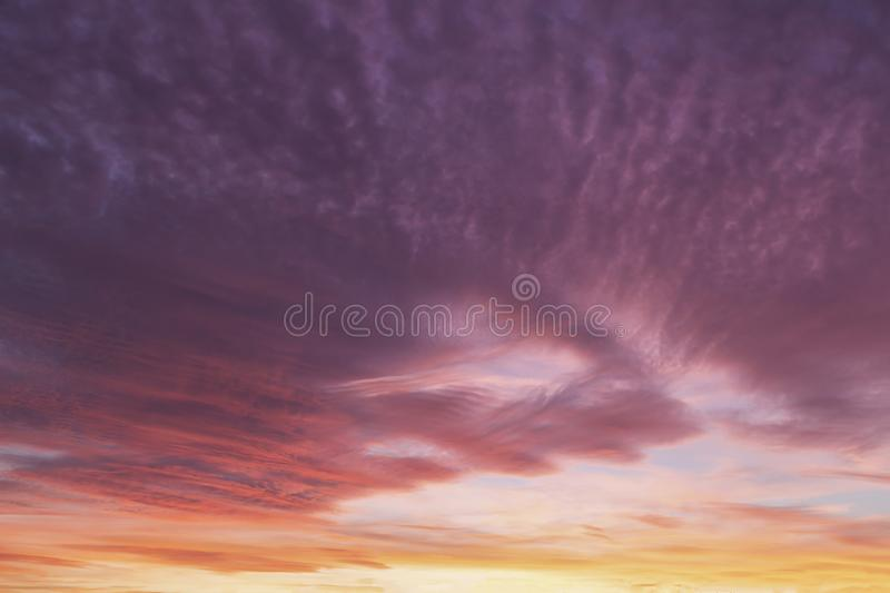 Dramatic sunset pink sky 725. Dramatic sunset clouds with pink and purple sky stock images
