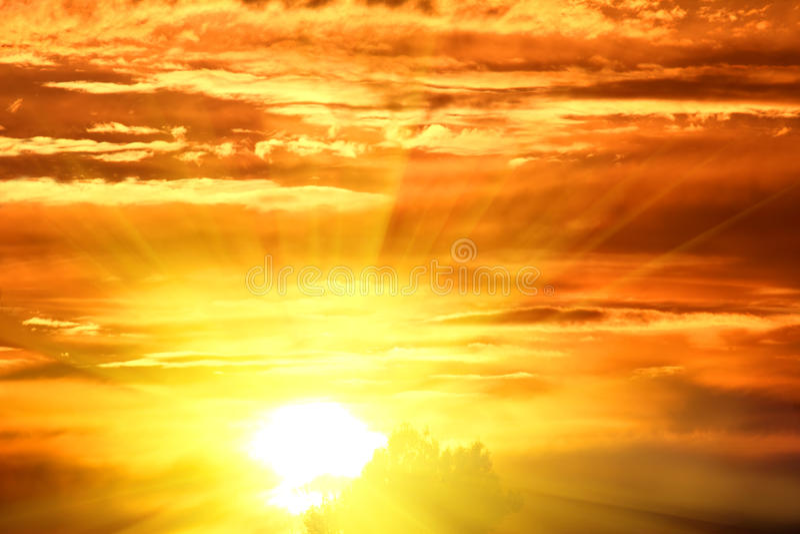 Dramatic sunset sky stock photos