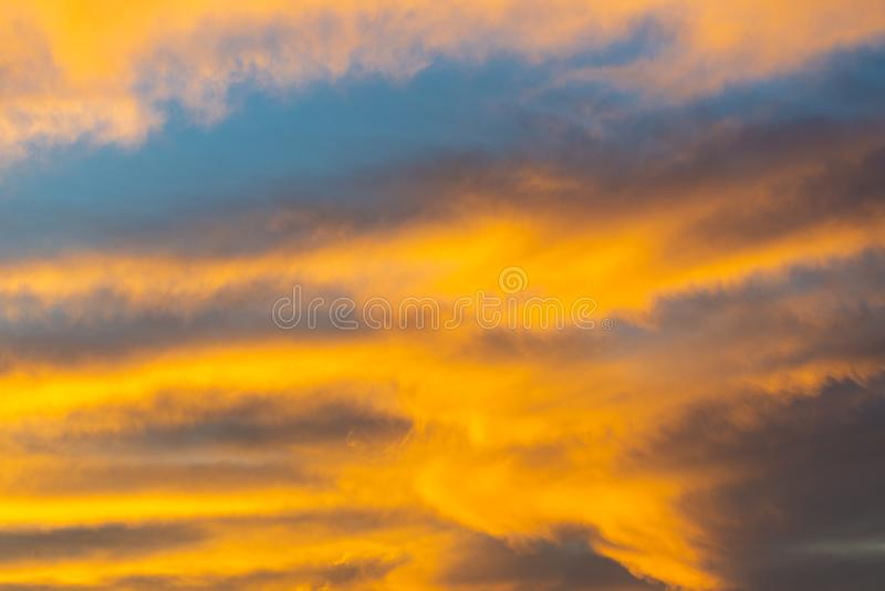 Dramatic sunset and sunrise sky royalty free stock images