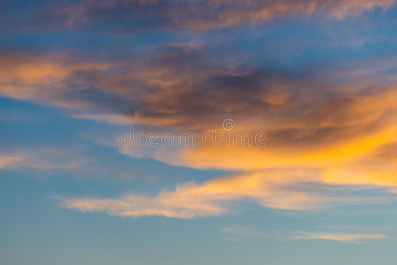 Dramatic sunset and sunrise sky stock images