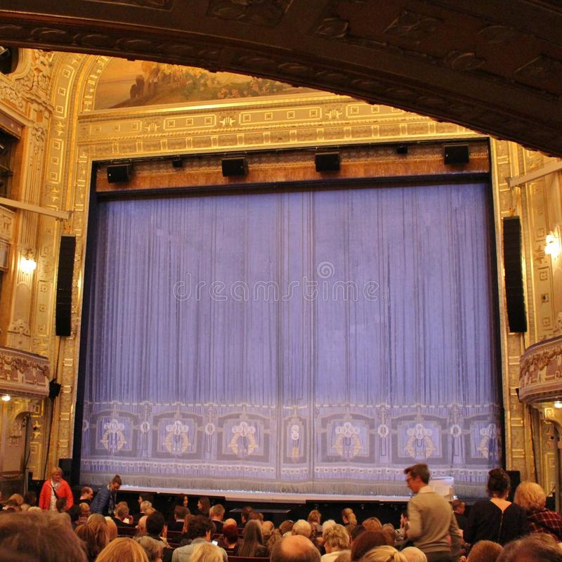 At the Dramatic Theatre in Stockholm stock photography