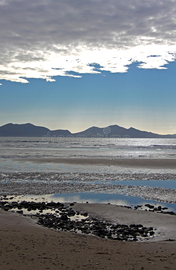 Download Dramatic View From Newborough Beach. Anglesey, Wales Stock Photo - Image of britain, light: 61812014
