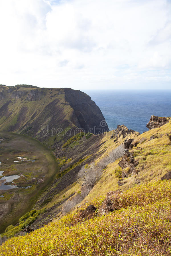 Download Dramatic Volcano Crater Near Orongo, Easter Island Stock Image - Image: 22283797