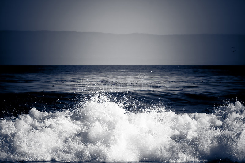 Dramatic Wave Crashing royalty free stock photography
