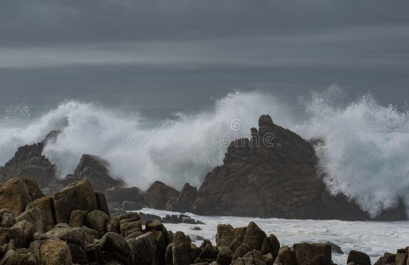 Dramatic waves royalty free stock image