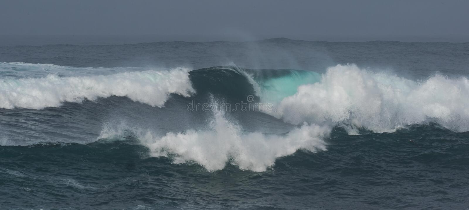 Dramatic waves stock images