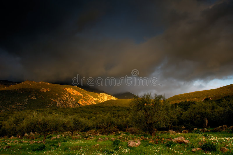 Dramatisch landschap royalty-vrije stock afbeeldingen