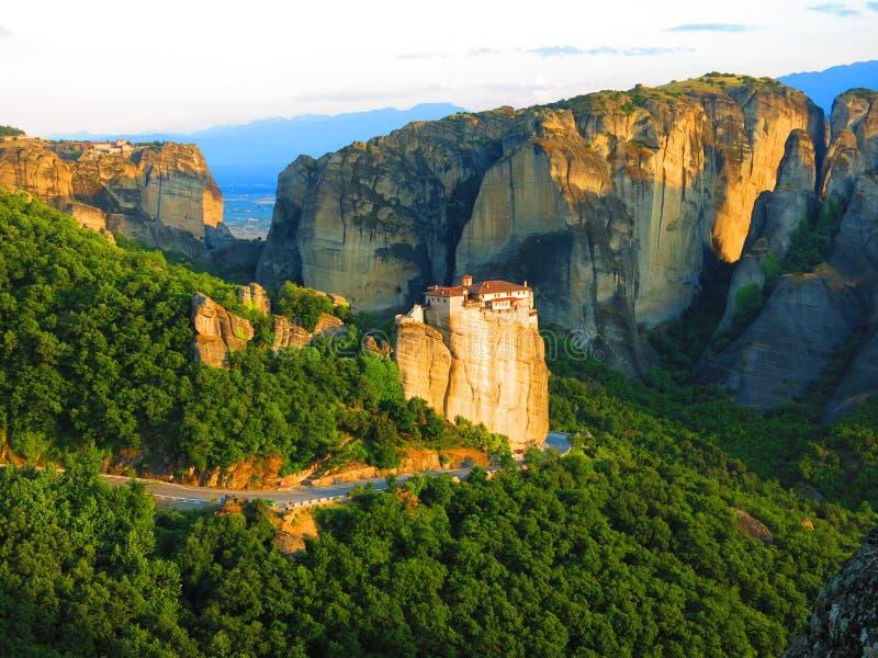 Dramatisch landschap in Meteora, Griekenland royalty-vrije stock foto