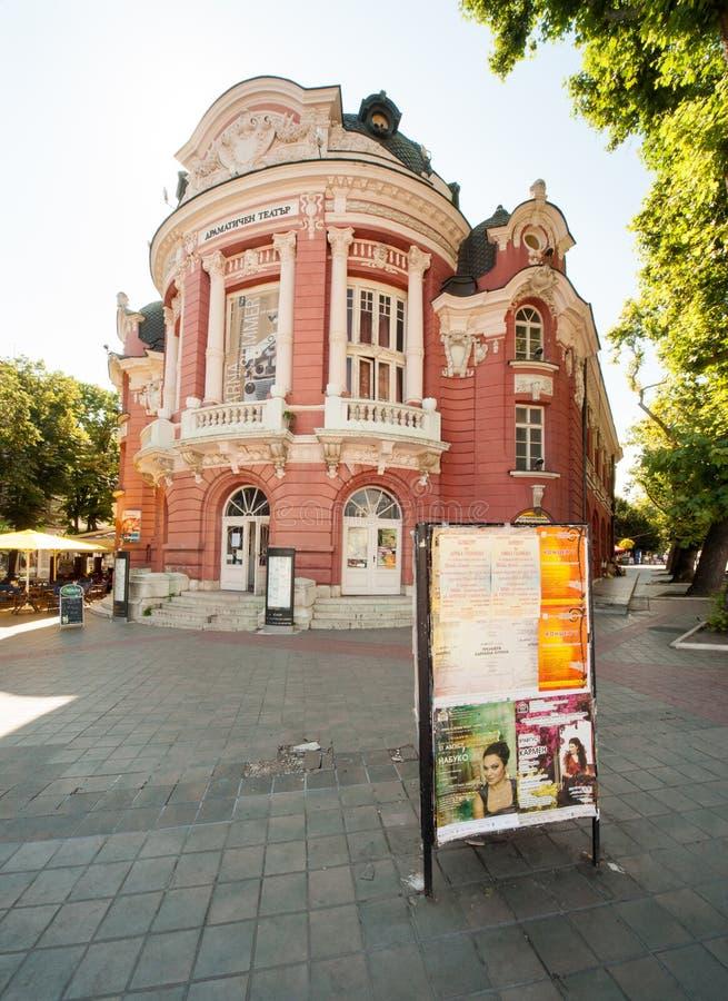 Dramatisch theater in Varna in Bulgarije stock afbeeldingen