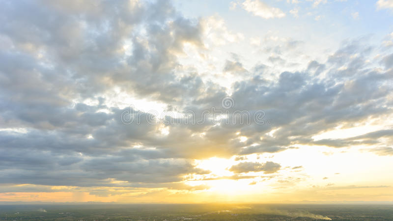 Dramatische Cloudscape stock foto