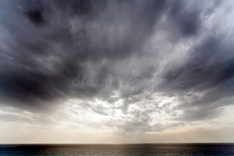 Dramatische hemel royalty-vrije stock afbeeldingen