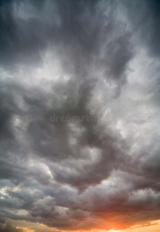 Dramatische hemel royalty-vrije stock fotografie