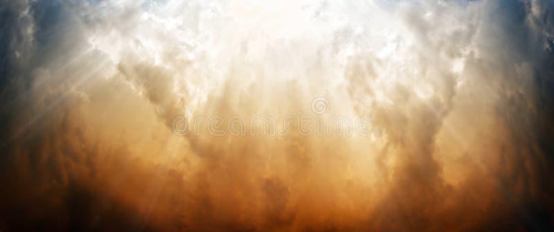 Dramatische hemel vector illustratie