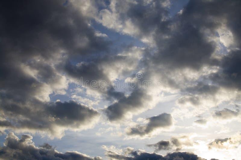 Dramatische hemel stock foto