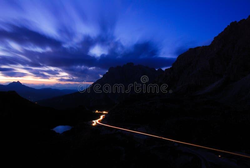 Dramatische Hemel, Dolomiet, Italië royalty-vrije stock fotografie