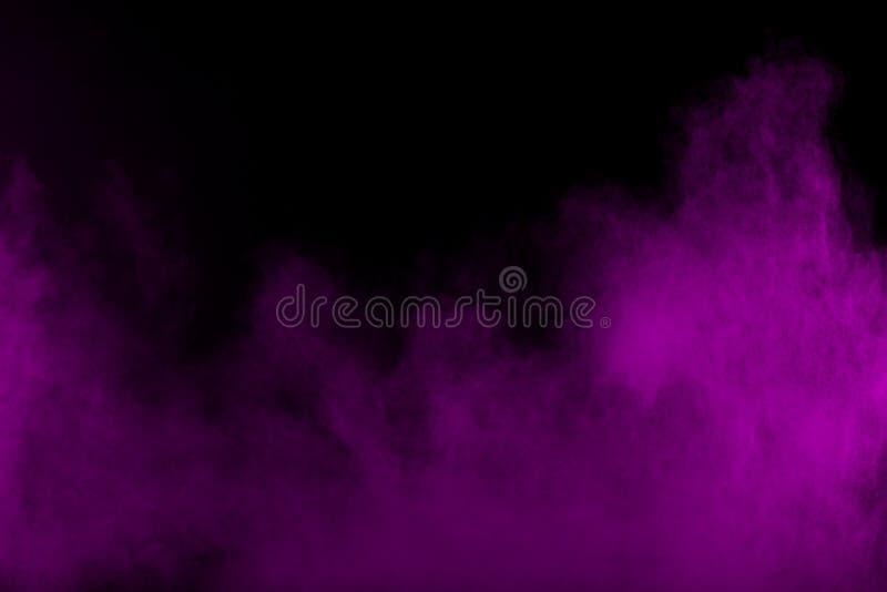 Dramatische purpere rookwolken stock afbeeldingen