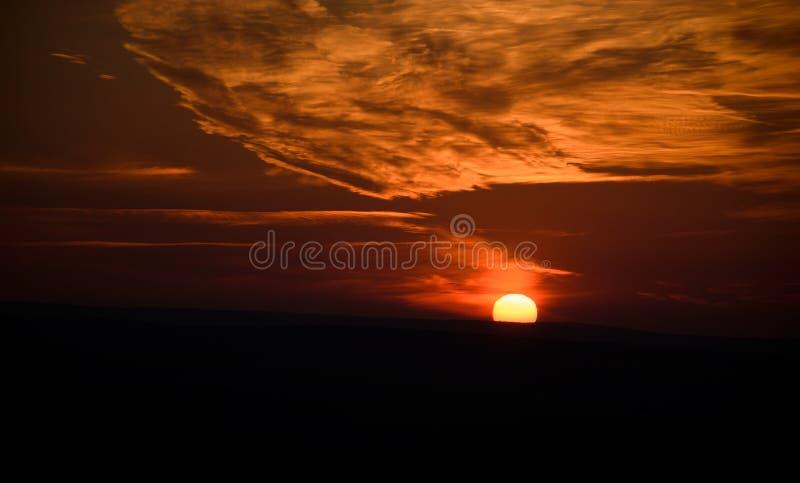 Dramatische Zonsondergang stock foto's