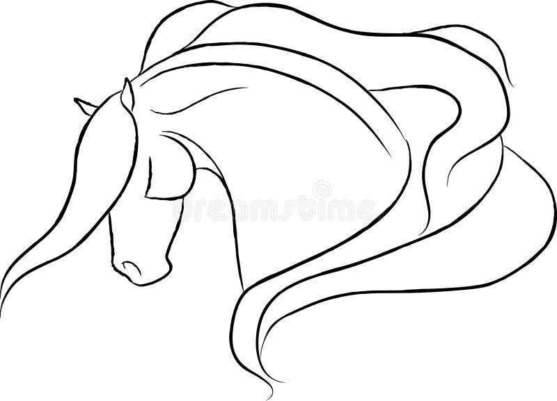 dramatisk head hästvektor stock illustrationer