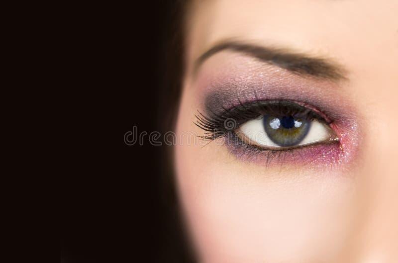 dramatisk makeup royaltyfria bilder