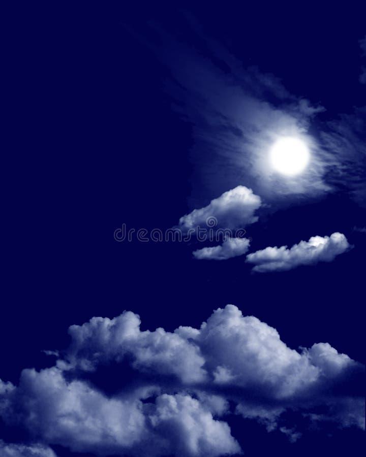 dramatisk nattskycape vektor illustrationer