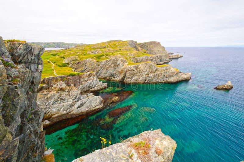 Dramatisk Shoreline på en havkust fotografering för bildbyråer