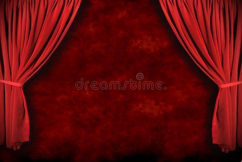 dramatisk teater för förhängelightingetapp vektor illustrationer