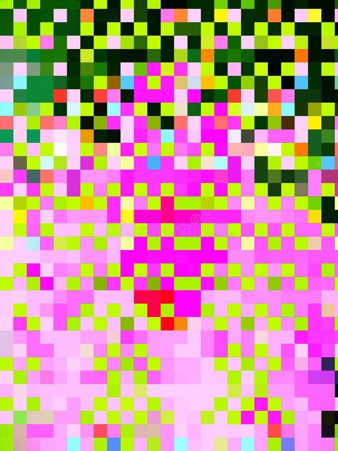 Dramatiskt vackert mönster för små kvadrater vektor illustrationer