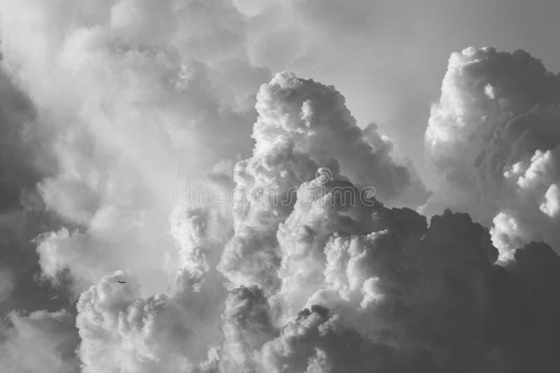 Dramatyczna cumulonimbus chmura fotografia stock