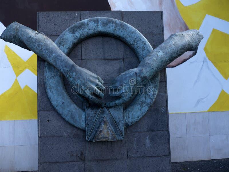 Dramatyczna statua w Funchal na wyspie Madiera zdjęcie royalty free